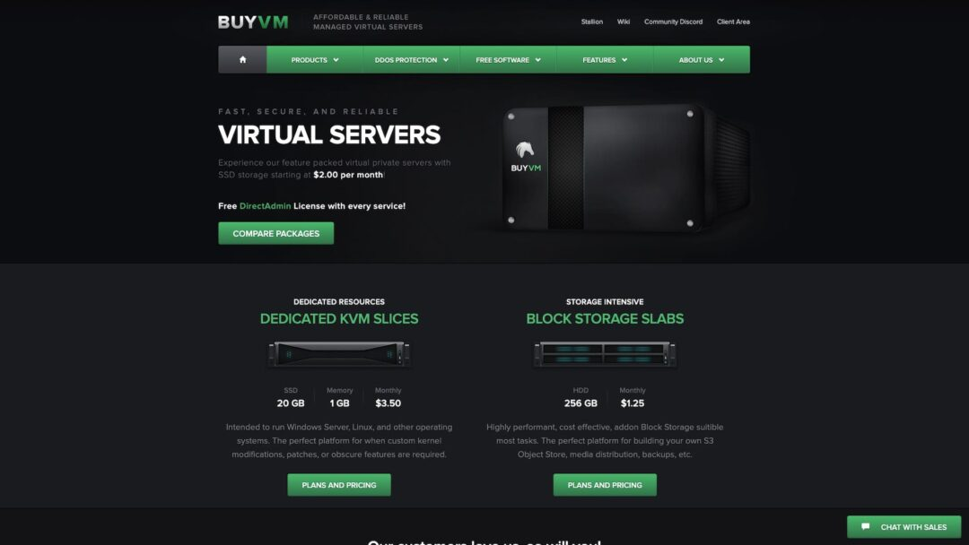 BuyVM Homepage