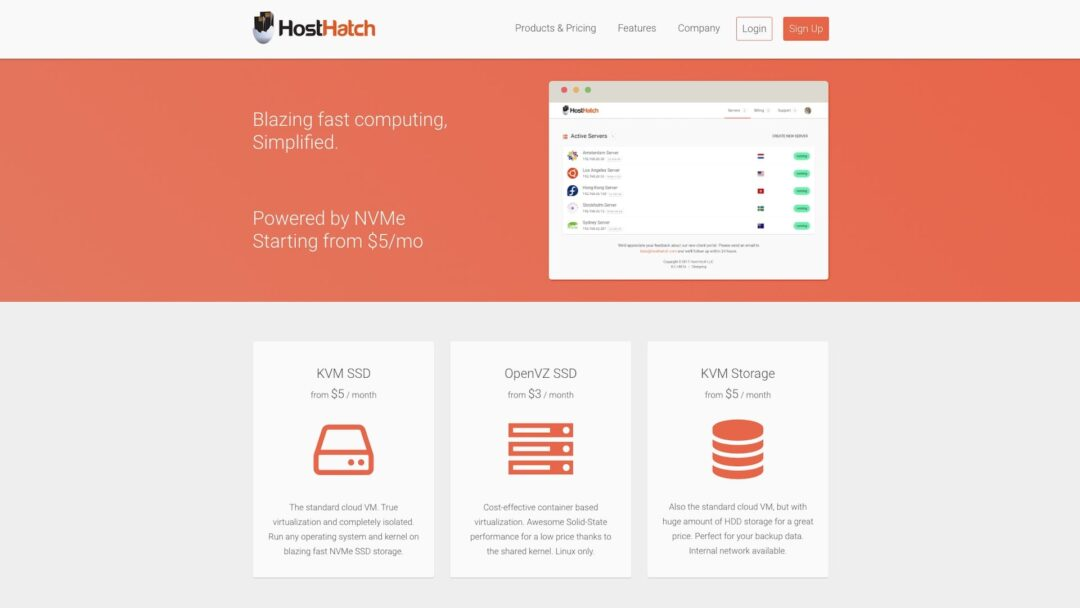 HostHatch Homepage